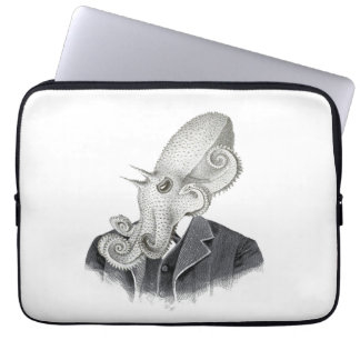 Cthulhu Gentleman Vintage Illustration Laptop Case