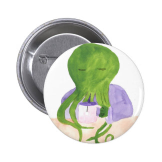 Cthulhu Has A Cup Of Tea 6 Cm Round Badge