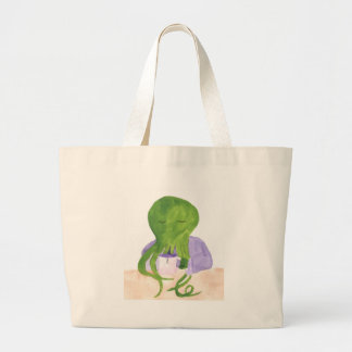 Cthulhu Has A Cup Of Tea Large Tote Bag