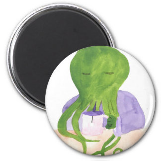 Cthulhu Has A Cup Of Tea Magnet