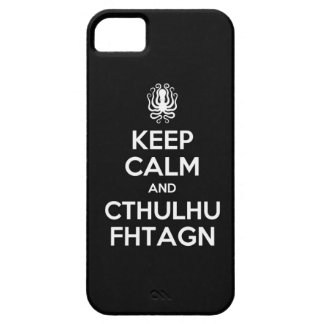 Cthulhu Keep Calm and Carry On iPhone 5 Case