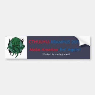 Cthulhu/Krampus 2016 Bumper Sticker