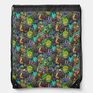 Cthulhu Lovecraft Mythos Chibi Bestiary Drawstring Bag