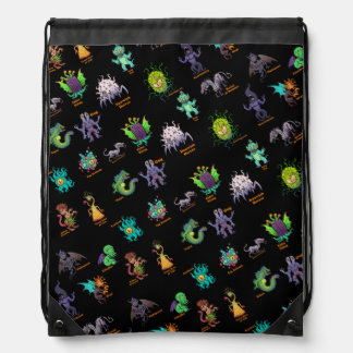 Cthulhu Lovecraft Mythos Chibi Bestiary II Drawstring Bag