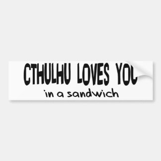 Cthulhu Loves You Bumper Stickers
