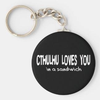 Cthulhu Loves You Key Ring