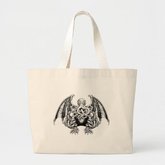 Cthulhu Monster Large Tote Bag