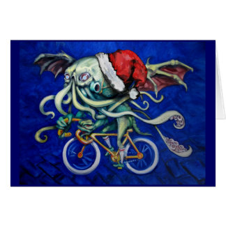 Cthulhu on a Bicycle Card