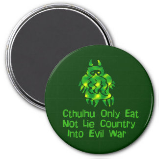 Cthulhu Only Eats 7.5 Cm Round Magnet