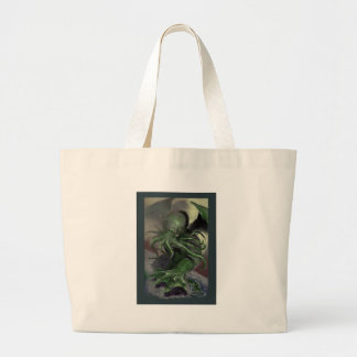 Cthulhu Rising H.P Lovecraft inspired horror rpg Large Tote Bag