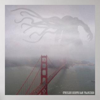 Cthulhu Sights San Francisco Poster