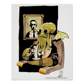 Cthulhu Taking Tea - Print