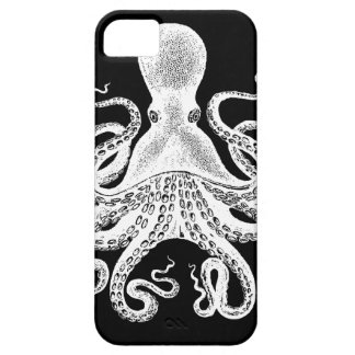 Cthulu Kraken Octopus - Victorian Image on Black Barely There iPhone 5 Case