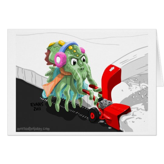 Cthulu Snow Blower Card