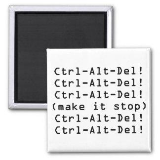 Ctrl-Alt-Del Square Magnet