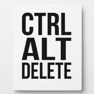 Ctrl+Alt+Delete Photo Plaque