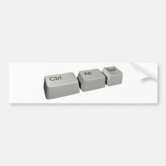 Ctrl Alt LED Bumper Sticker