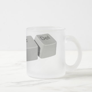 Ctrl Alt LED Frosted Glass Coffee Mug