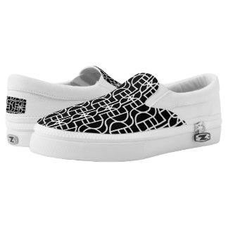 Ctrl (black) / Custom Zipz Slip On Shoes