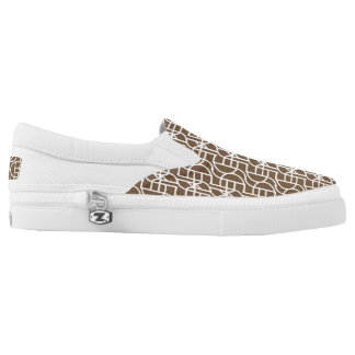 Ctrl (brown) / Custom Zipz Slip On Shoes