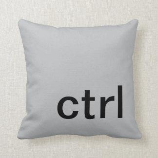 ctrl button pillow, Gray & Black Cushion