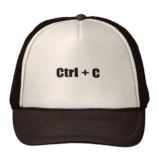 CTRL + C MESH HAT