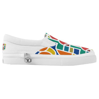 Ctrl in colors /Custom Zipz Slip On Shoes
