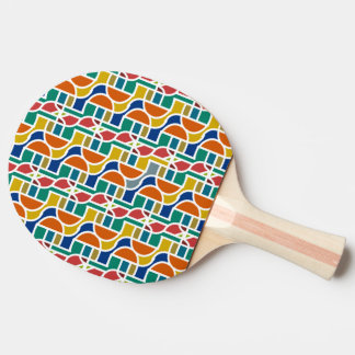 Ctrl in colors / Ping Pong Paddle, Red Rubber Back Ping Pong Paddle