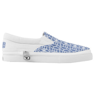 Ctrl (light blue) / Custom Zipz Slip On Shoes