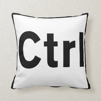 CTRL Throw Pillow Control Key Design