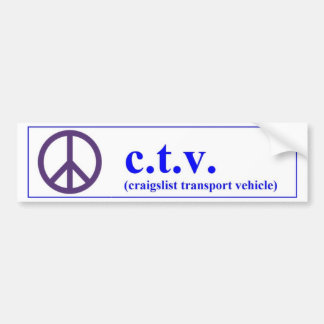 CTV craigslist transport vehicle Bumper Sticker