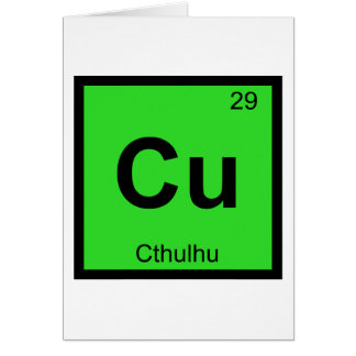 Cu - Cthulhu Chemistry Periodic Table Symbol Card