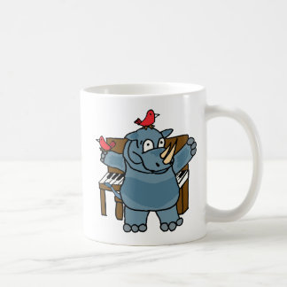 CU- Rhino Playing Piano Mug