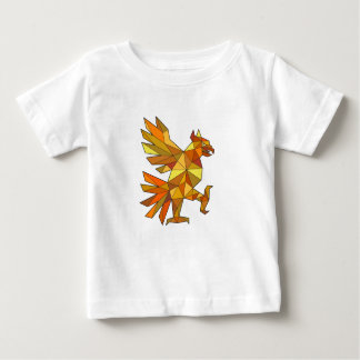 Cuauhtli Glifo Eagle Fighting Stance Low Polygon Baby T-Shirt