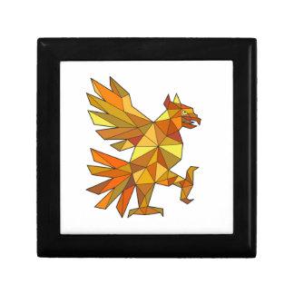 Cuauhtli Glifo Eagle Fighting Stance Low Polygon Gift Box