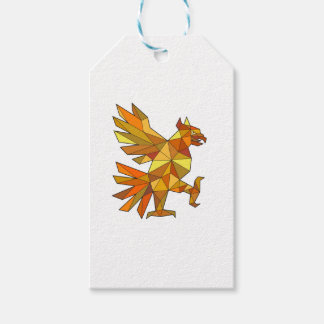 Cuauhtli Glifo Eagle Fighting Stance Low Polygon Gift Tags
