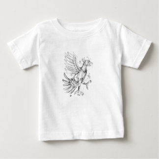 Cuauhtli Glifo Eagle Fighting Stance Tattoo Baby T-Shirt