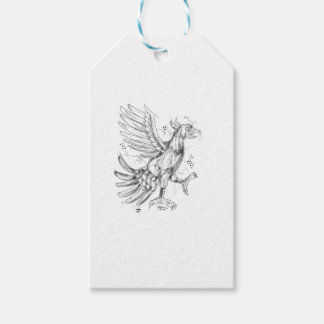 Cuauhtli Glifo Eagle Fighting Stance Tattoo Gift Tags