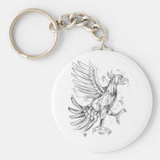 Cuauhtli Glifo Eagle Fighting Stance Tattoo Key Ring
