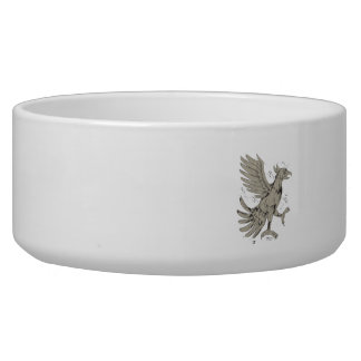 Cuauhtli Glifo Eagle Symbol Low Polygon Dog Bowls