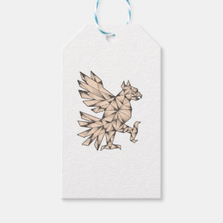 Cuauhtli Glifo Eagle Tattoo Gift Tags