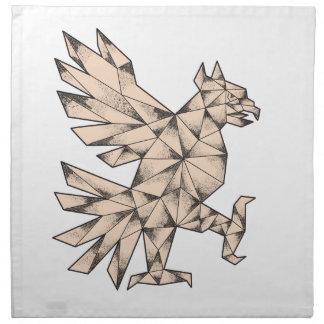 Cuauhtli Glifo Eagle Tattoo Napkin