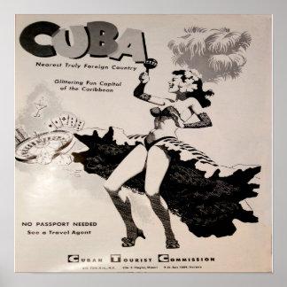 Cuba 1950's Black & White Print