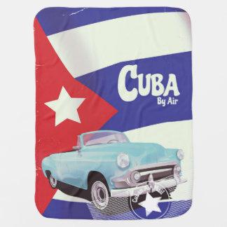 Cuba by Air Baby Blanket