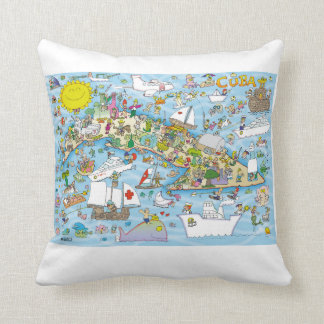 Cuba Cartoon Map  The best present for a Cuban Cushion