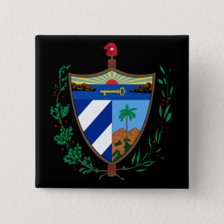 cuba coat of arms 15 cm square badge