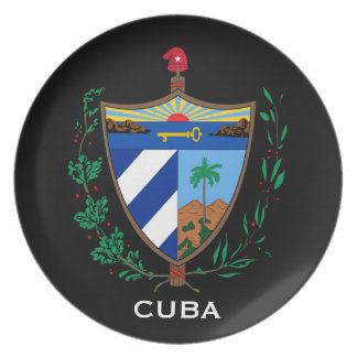 Cuba* Coat of Arms Display Plate