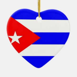 Cuba Flag Ceramic Ornament