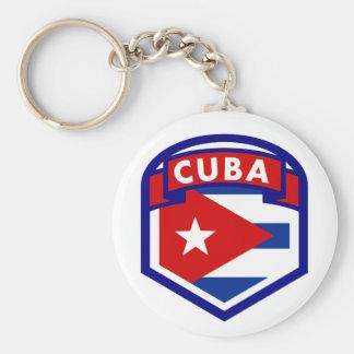 Cuba Flag Coat Of Arms Key Ring