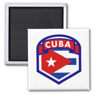 Cuba Flag Coat Of Arms Square Magnet